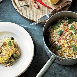 Crab Linguine with Basil, Lemon & Chile Recipe