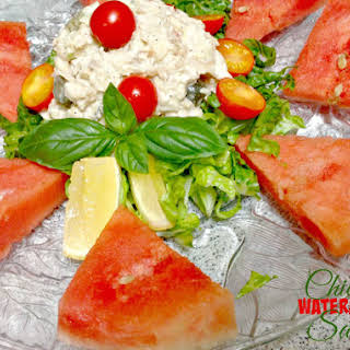 Watermelon Chicken Salad-Cool Eats for Summer Heat!.