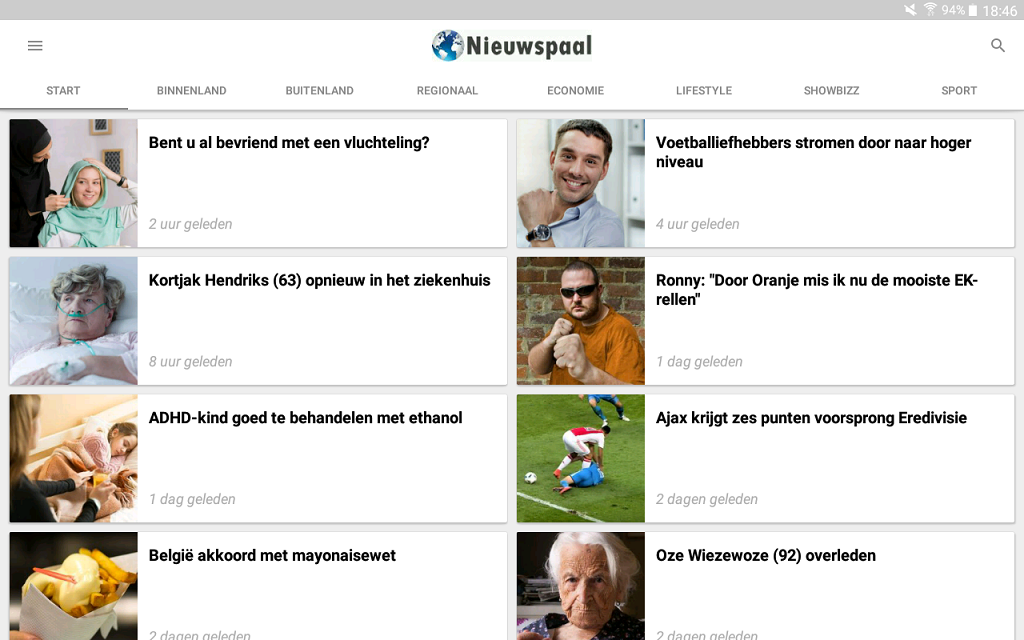Nieuwspaal- screenshot