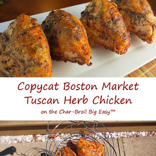 Copycat Boston Market Tuscan Herb Chicken on the Char-B roil Big Easy.