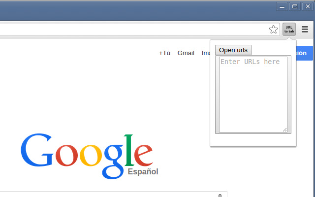 URL to tab
