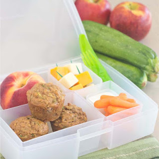 Apple Zucchini Mini Muffin Bento Box.