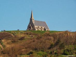Photo: #017-Etretat, la chapelle Notre-Dame de la Garde sur la Falaise d'Amont.