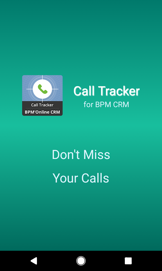 Call Tracker for bpm'online CRM- screenshot