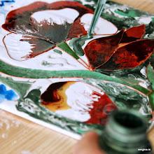 Photo: Красками Pebeo по керамике и стеклу пишем на холстах