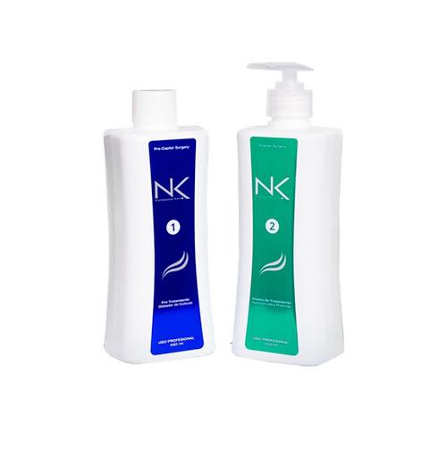 kit tratamiento nk alisado paso 1 y 2 450ml