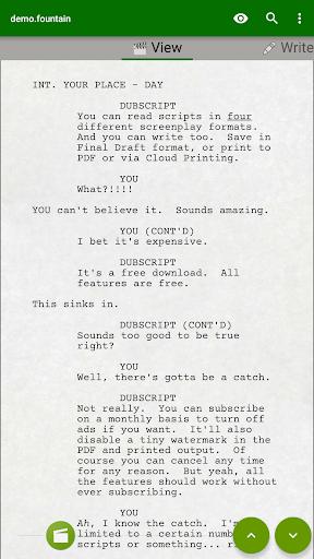 DubScript Screenplay Writer