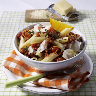 Penne Bolognese with Orange.