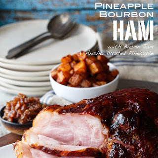 Chipotle Pineapple Bourbon Glazed Ham.