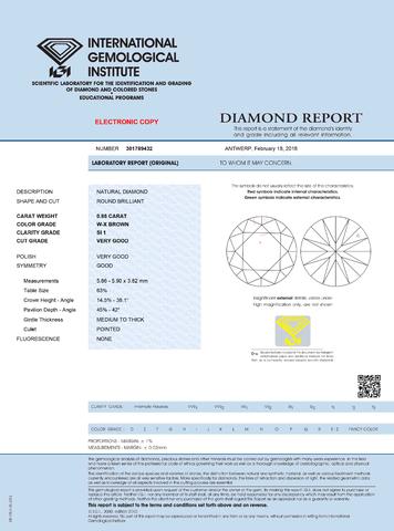 medzinárodý certifikát diamantu IGI