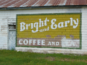 Photo: Wall advertisement seen in May TX 8 April 2012