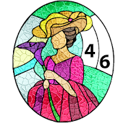 Stained Glass Color By Number-Paint By Number Free