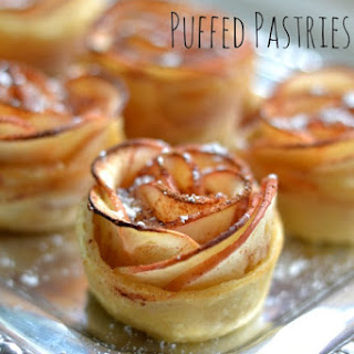 Apple Rose Puffed Pastries.
