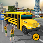 School bus driving 2017 icon
