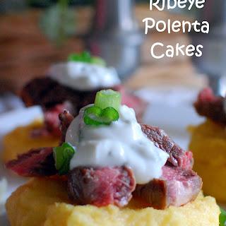 Ribeye Polenta Cakes