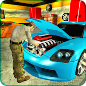 Sports Cars Mechanic Garage