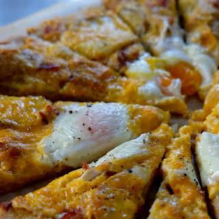 Bacon, Egg, and Potato Pizza.