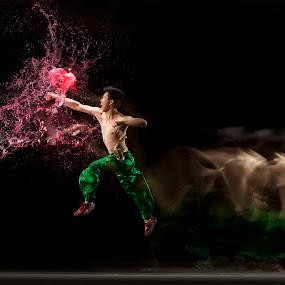Dragon Punch by Joni Irwanto - Sports & Fitness Other Sports ( strobist, indonesia, wushu )