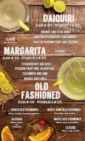 Lord of the Drinks Meadow menu 6