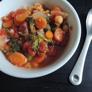 Chickpea Vegetable Soup (Adapted from Melissa Clark's recipe in the NY Times.)
