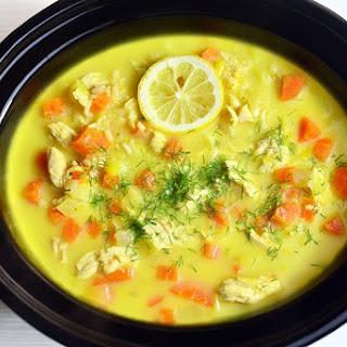Slow Cooker Greek Lemon Chicken Soup.