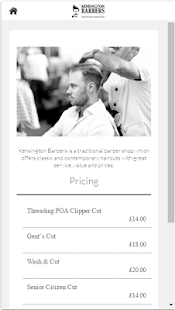 Kensington Barbers- screenshot thumbnail