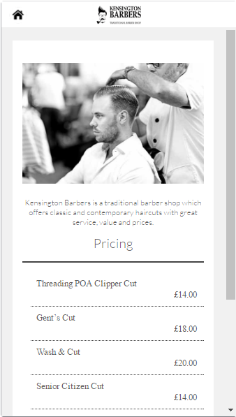 Kensington Barbers- screenshot