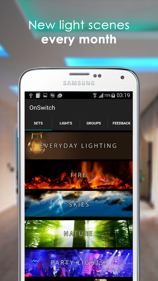 OnSwitch : Philips Hue / LIFX- screenshot