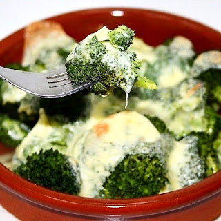 Broccoli With Cheese In An Oven
