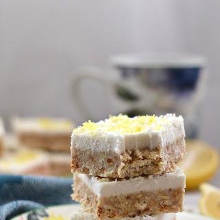 Paleo Lemon Coconut Cheesecake Bars