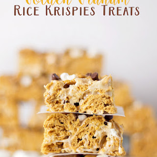 Golden Graham Rice Krispies Treats.