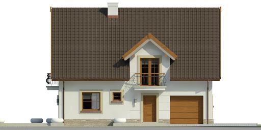 Dom przy Alabastrowej 36 - Elewacja przednia
