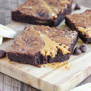 Triple Chocolate Peanut Butter Banana Brownies