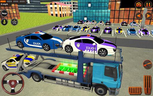 City Police Car Transporter Truck: Trailer Driving apktram screenshots 11
