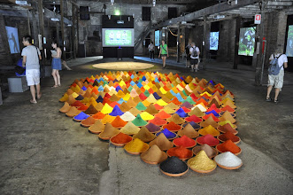 "Photo: Sonia Falcone's ""Campo de color"" (2012–13) at the IILA pavilion at the 2013 Venice Biennale"