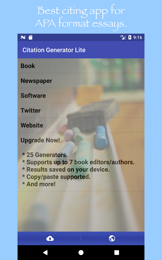 citation generator lite android apps on google play citation generator lite screenshot
