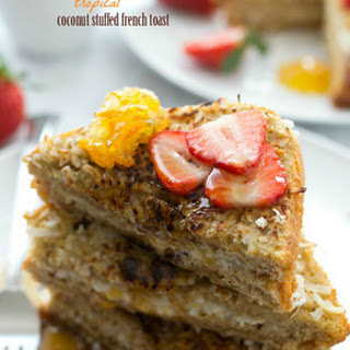 Tropical Coconut Stuffed French Toast