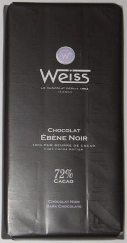 Weiss Èbéne Noir 72% cacao