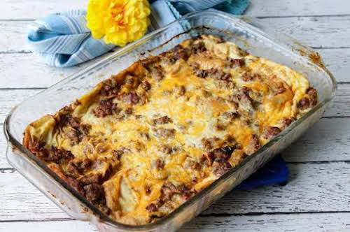 """Breakfast Awaits """"This simple casserole is great if you're having houseguests. It's..."""
