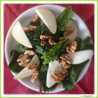 Clean Eating Pear Salad with Walnuts.