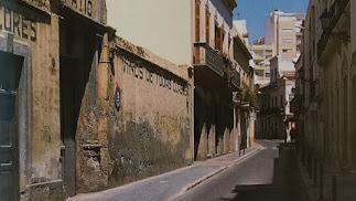 Calle Real en una imagen de la colección 'Calles y plazas de Almería' de LA VOZ.