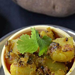 Sukhe aloo ki subzi/ Spicy potato stir fry