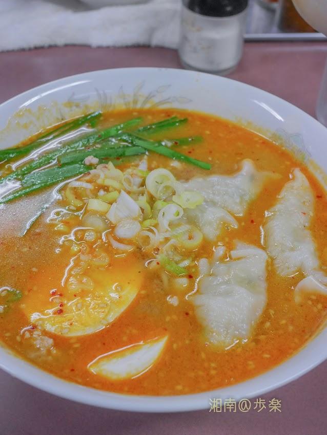 豆板醤もスープに混じっている