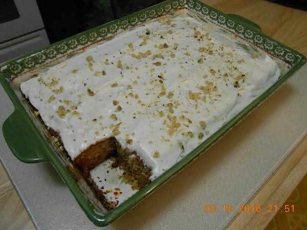 Banana Cake With Cream Cheese Frosting Recipe