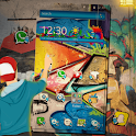 Graffiti Colorful Wall Cartoon icon