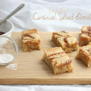 One Bowl Salted Caramel Blondies.