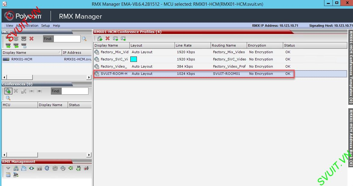 Create profiles on MCU Polycom RMX (11)