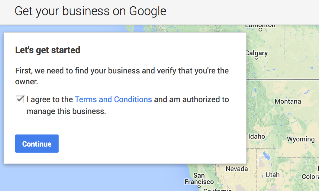 google plus local terms and conditions