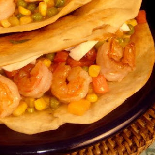 Shrimp Tacos With Avocado Peach Salsa