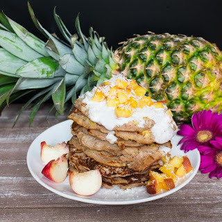 Pineapple Buckwheat Pancakes with Coconut Cream